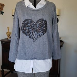 Style & co. ~ 1 piece sweatshirt/shirt ~